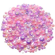'LILAC ROSE' Theme Rhinestone and Pearl Embellishment Pack